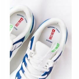 Women's Sport Shoes Memory Foam Big Star HH274810 White-Green blue 7