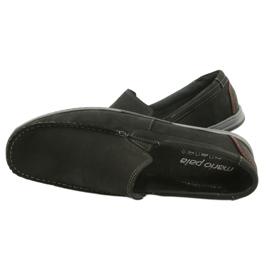 Mario Pala Men's loafers 763 black suede 4