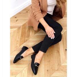 Black women's loafers JL76 Black 1