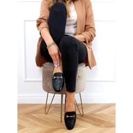 Black women's loafers JL76 Black 2