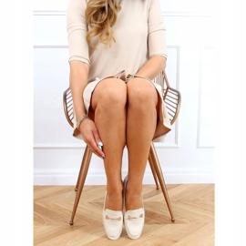 Women's beige loafers JL76 Beige 2