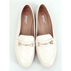 Women's beige loafers JL76 Beige 3