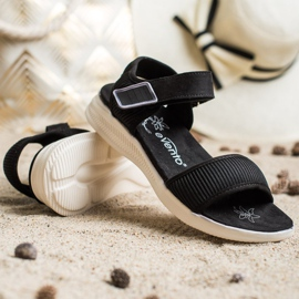 Evento Comfortable Sandals With Velcro black 4