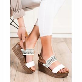 S. BARSKI White Sandals On Wedge S.BARSKI brown 3