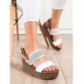 S. BARSKI White Sandals On Wedge S.BARSKI brown 2