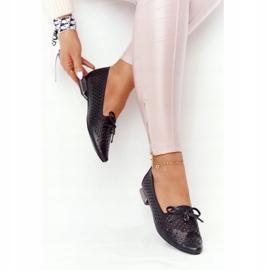 Openwork Loafers On Silver Heel Vinceza 21-10602 Black 4