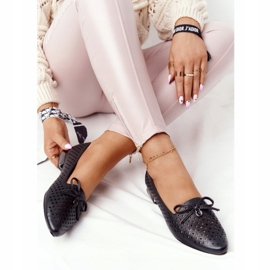 Openwork Loafers On Silver Heel Vinceza 21-10602 Black 1