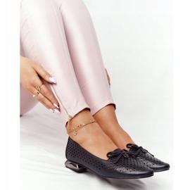 Openwork Loafers On Silver Heel Vinceza 21-10602 Black 5
