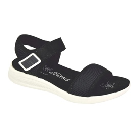 Evento Comfortable Sandals With Velcro black 5