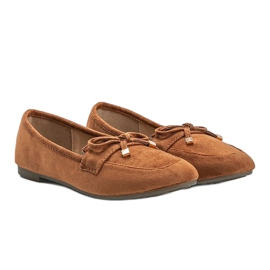 Brown loafers with a bow from Arlene 1