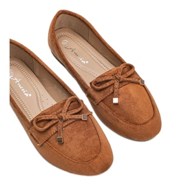Brown loafers with a bow from Arlene 3