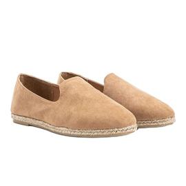 Beige women's Kathryn loafers 1