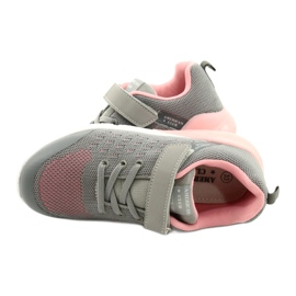 American Club Girls' Sport shoes with Velcro RL11 Gray-Pink grey 4