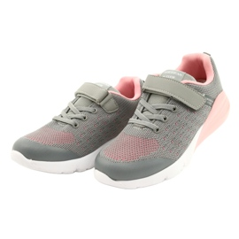 American Club Girls' Sport shoes with Velcro RL11 Gray-Pink grey 1