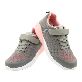 American Club Girls' Sport shoes with Velcro RL11 Gray-Pink grey 3