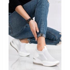 ARTIKER Slipless Wedge Sneakers white silver grey 2