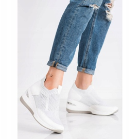 ARTIKER Slipless Wedge Sneakers white silver grey 1