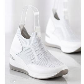 ARTIKER Slipless Wedge Sneakers white silver grey 3
