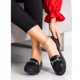 Queentina Elegant Loafers With Cubic Zirconia black 1
