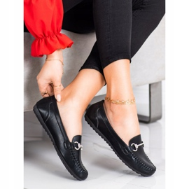 Queentina Elegant Loafers With Cubic Zirconia black 2