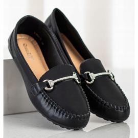 Queentina Elegant Loafers With Cubic Zirconia black 3