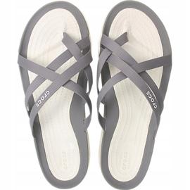Crocs Women's Slippers Swiftwater Webbing Flip W Light Gray 205479 Oct. grey 2