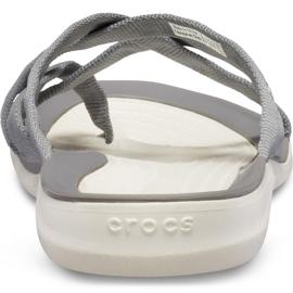 Crocs Women's Slippers Swiftwater Webbing Flip W Light Gray 205479 Oct. grey 6