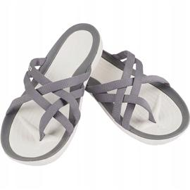 Crocs Women's Slippers Swiftwater Webbing Flip W Light Gray 205479 Oct. grey 1