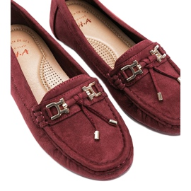 Darren maroon loafers red 2