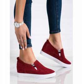 Filippo Wedge Leather Footwear red 3