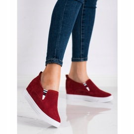 Filippo Wedge Leather Footwear red 1
