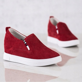 Filippo Wedge Leather Footwear red 2