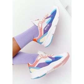 Women's Sport Shoes Memory Foam Big Star HH274809 White-Pink violet blue 5