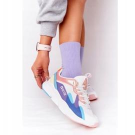 Women's Sport Shoes Memory Foam Big Star HH274809 White-Pink violet blue 1