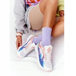 Women's Sport Shoes Memory Foam Big Star HH274809 White-Pink violet blue 3