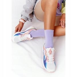 Women's Sport Shoes Memory Foam Big Star HH274809 White-Pink violet blue 4