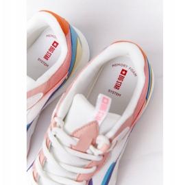 Women's Sport Shoes Memory Foam Big Star HH274809 White-Pink violet blue 7