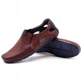 Olivier Men's shoes moccasins 901 summer burgundy red 3