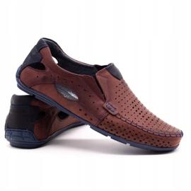 Olivier Men's shoes moccasins 901 summer burgundy red 4