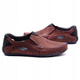Olivier Men's shoes moccasins 901 summer burgundy red 5