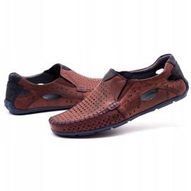 Olivier Men's shoes moccasins 901 summer burgundy red 6