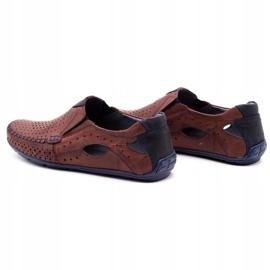 Olivier Men's shoes moccasins 901 summer burgundy red 7