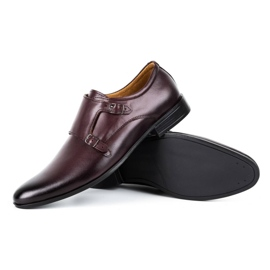 Lukas Leather formal shoes Monki 287LU claret red 3