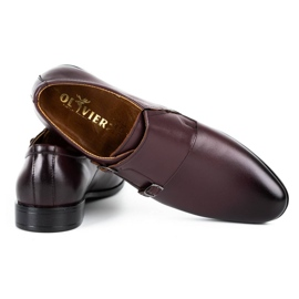 Lukas Leather formal shoes Monki 287LU claret red 4