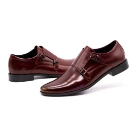 Lukas Leather formal shoes Monki 287LU claret red 7