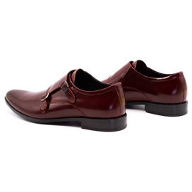 Lukas Leather formal shoes Monki 287LU claret red 8