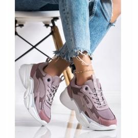 Women's Sneakers Big Star HH274258 violet pink 3