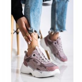 Women's Sneakers Big Star HH274258 violet pink 2