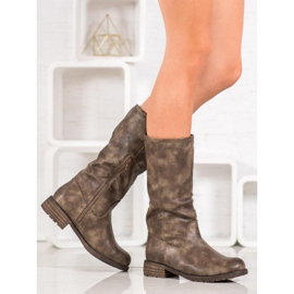 SDS Comfortable boots made of eco leather brown 1