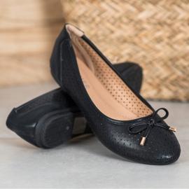 SHELOVET Openwork Ballerina With Eco Leather black 3